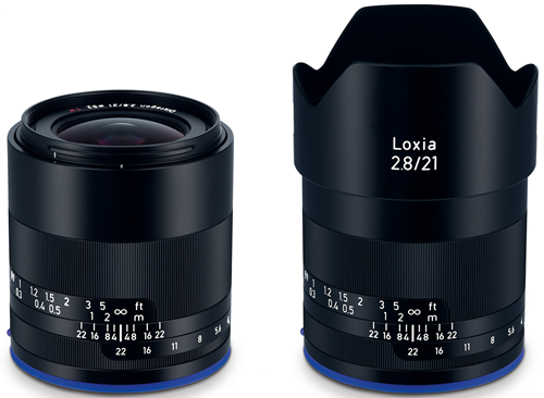 Óptica Zeiss Loxia 21 mm